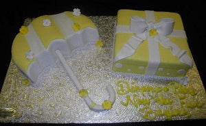 Umbrella and Gift box Cake - BS311