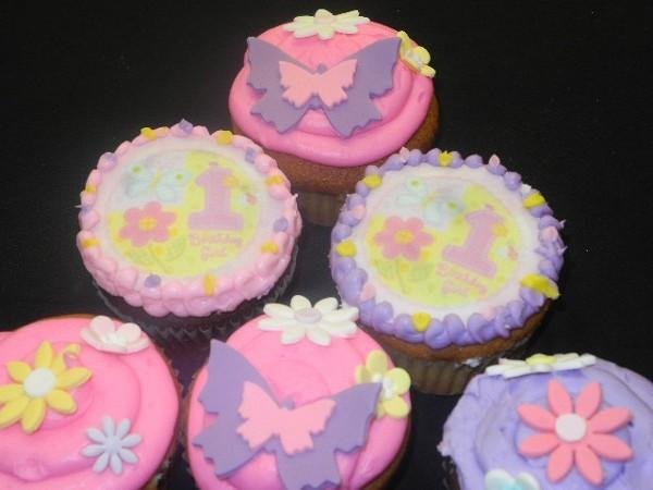 1st Birthday Cup Cakes - B0824