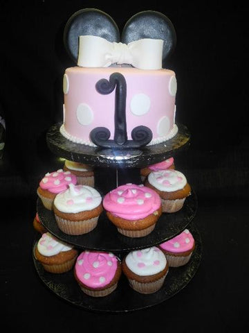 Mini Mouse Cake and Cup Cake Stand - B0183
