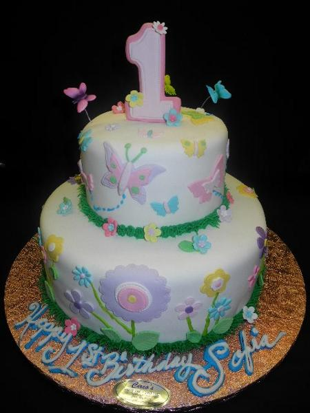 1st Birthday Cakes - B0826