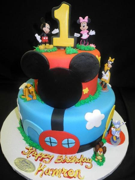 Mickey Mouse Clubhouse Cake - B0177
