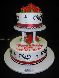 Stacked Birthday Cake - B0336