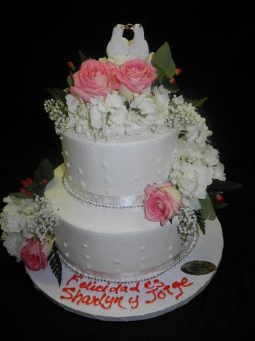 Inexpensive Wedding cake - W121
