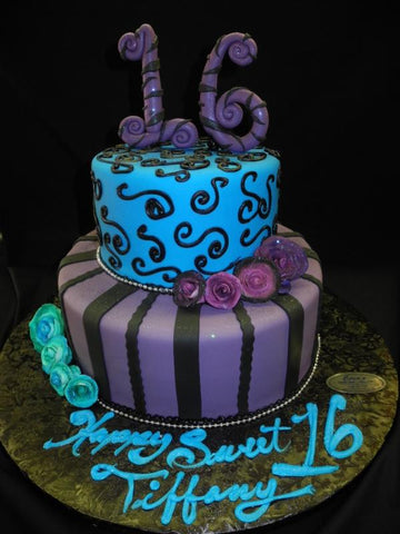 Sweet 16 Purple Cake - B0300