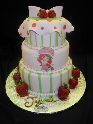 Strawberry Short Cartoon Cake - B0332