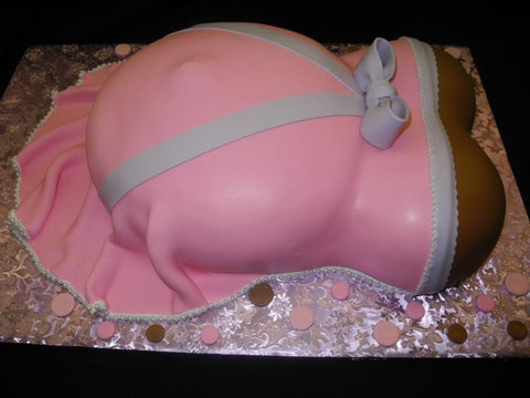 Girl Baby Shower Belly Cakes - BS191