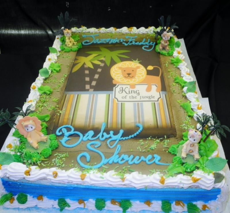 Baby Shower Cakes Jungle theme - BS107