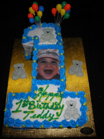 Boy 1st Birthday Cakes - B0755