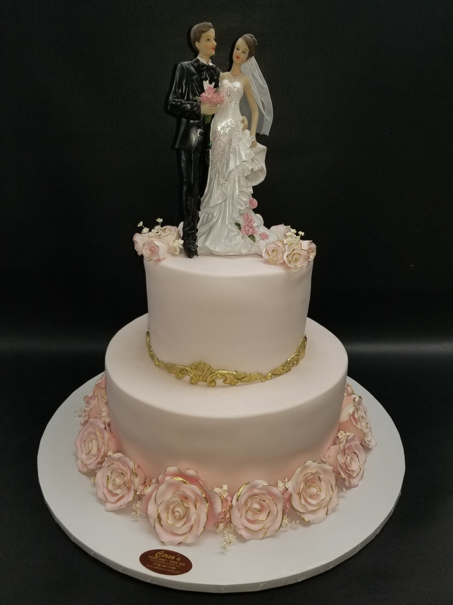 Rose Gold Wedding cake W185