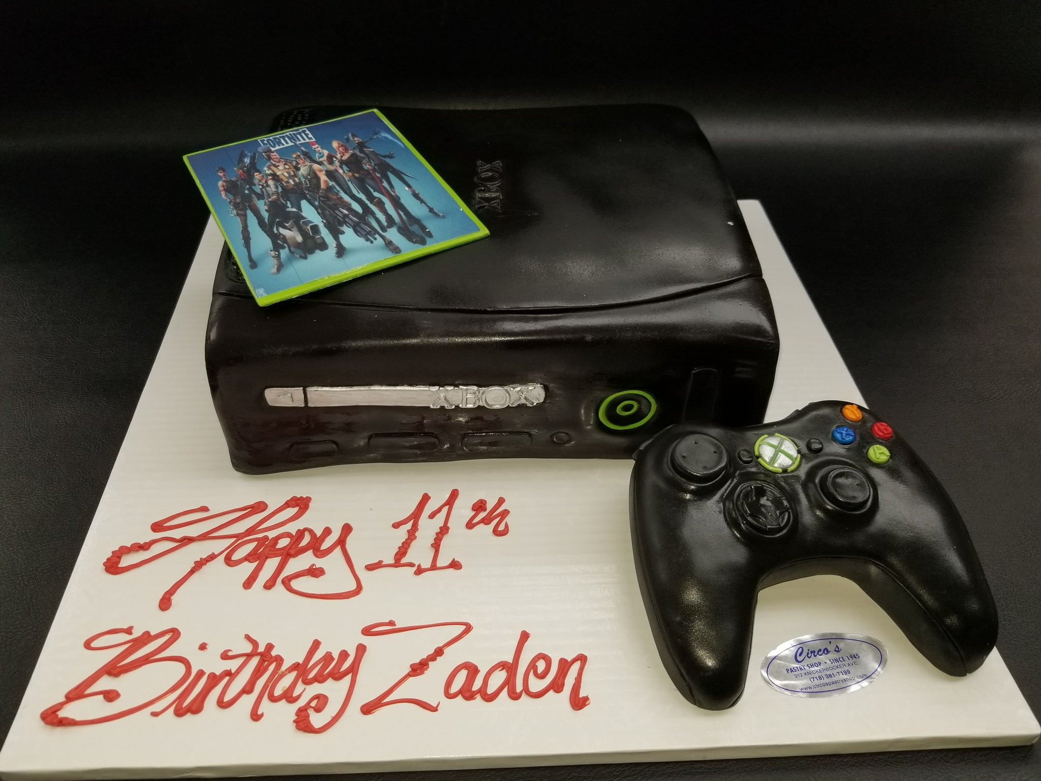 Xbox Cake With Fortnite And Controller CS0295 Circos Pastry Shop