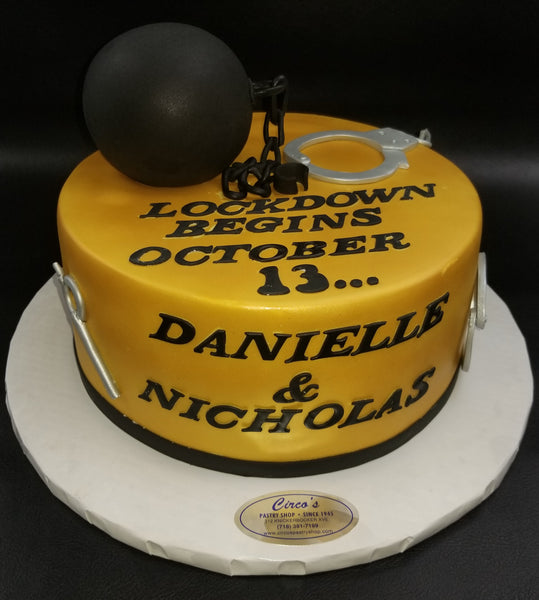Ball and chain cake W190