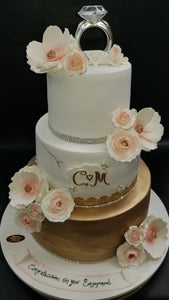 Engagement cake with ring. W192