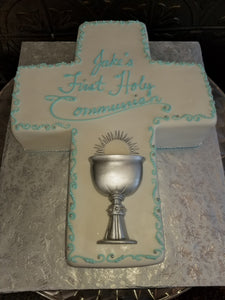 Cross cake for boy. R063