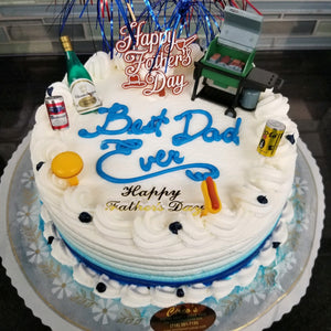 """Best Dad Ever"" Cake 8 inch Round Cake For Local Delivery or Curbside Pickup ONLY"
