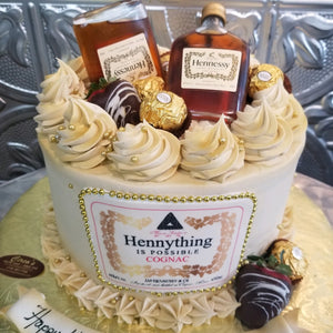 "Hennessy Cake the ""Hennything is Possible"" Cake For Local Delivery or Curbside Pickup ONLY"