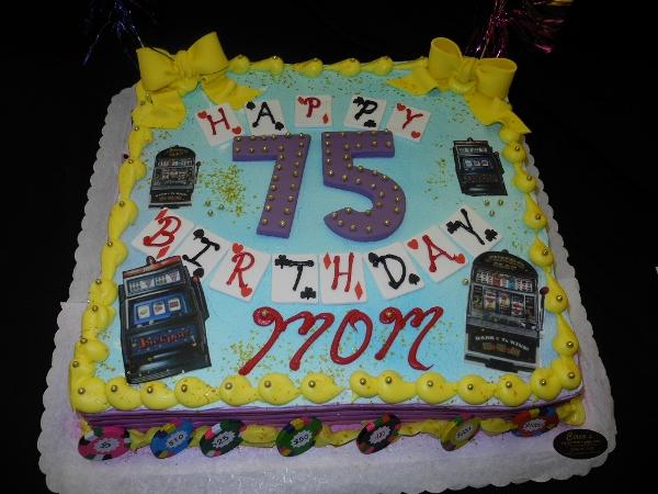 75th Birthday Cake - B0802