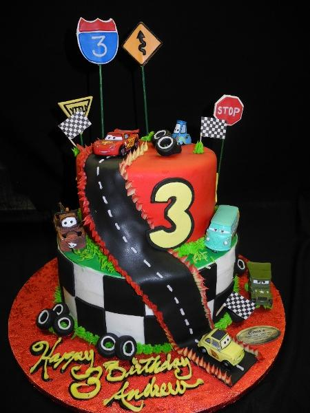 Cars Cake for 3rd Birhday - B0733