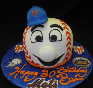 Mr. Met Baseball Cake - B0044