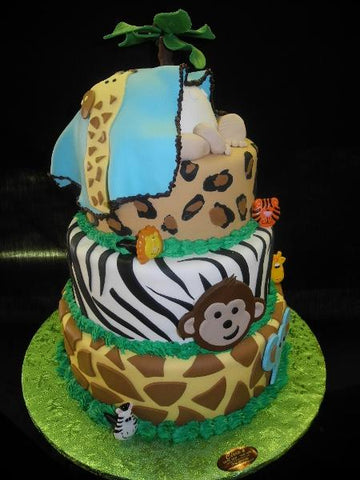 Baby Shower Safari Theme Cake - BS048