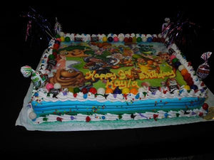 Candy Land Whipp Cream Birthday Cake - B0741