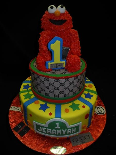Elmos 1st Birthday Customized Cake - B0652