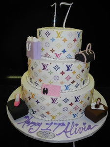 Pleasant Loui Vuitton 17Th Birthday Cake B0083 Circos Pastry Shop Personalised Birthday Cards Veneteletsinfo