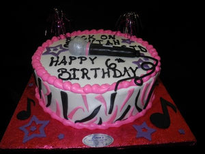 Round Musical Birthday Cake - B0371