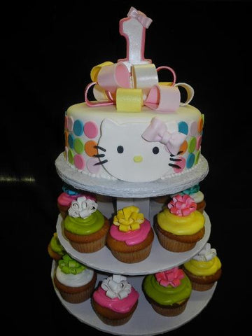 Hello Kitty Cupcakes and Custom Cake - CC006