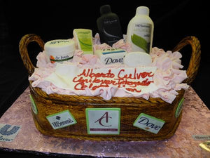 Beauty Basket Custom Cake - CS0270