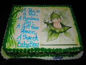 Pea in a pod Cake Baby Shower - BS236