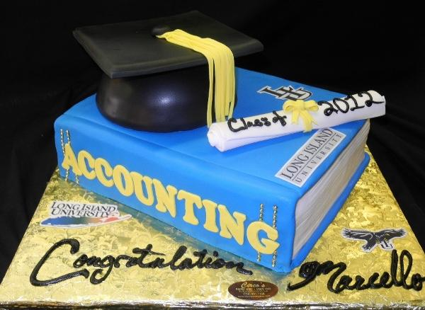 Graduation Book and  Hat Cake - CS0024