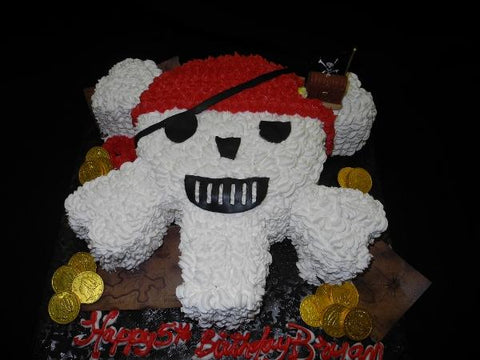 Pirate Skull Cream Cake - CS0131