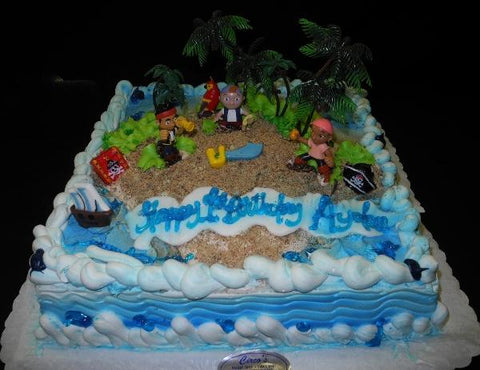 Pirate Cream Birthday Cake - B0433