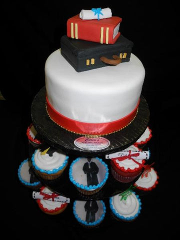 Graduation Cupcakes and Cake - CC076