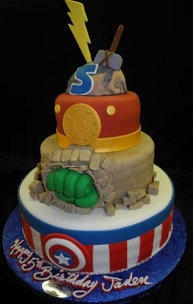 Super-hero Birthday Cake - B0867