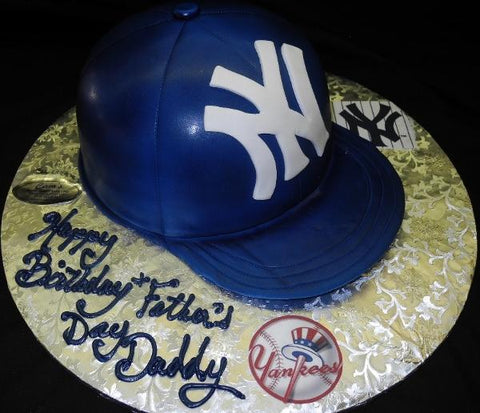 Yankee Hat Birthday Cake - CS0033