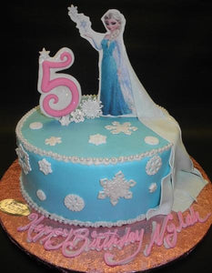 Frozen Icing Cake with 2D Elsa Image