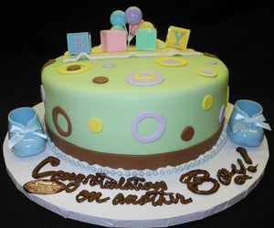 Babyshower Mint Green Cake - BS131