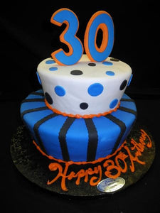 Birthday Cake with Mets Colors and Design - B0767