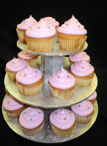 Pink and Silver Cupcakes - CC056