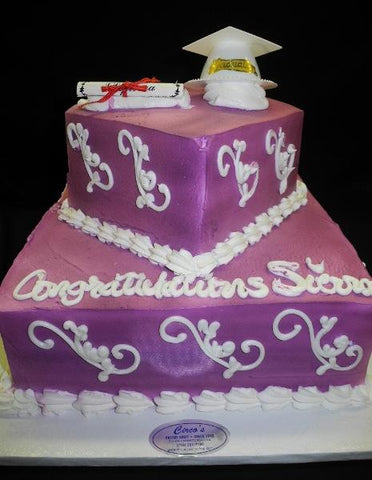 Lavender Graduation Cake - CS0167