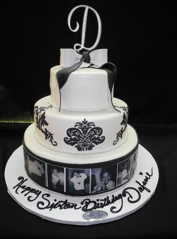 Sweet 16 Collage Cake - B0319