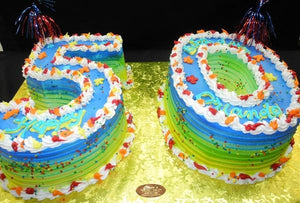 50th Birthday Cake - B0811