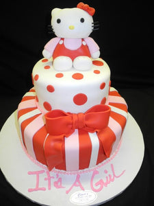 Baby Shower Hello Kitty Fondant Cake - BS114