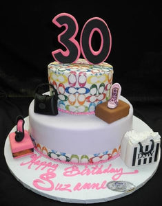 Coach 30th Birthday Cake - B0704
