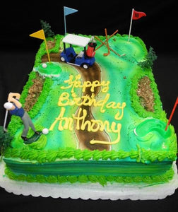 Golf Court Birthday Cake - B0622
