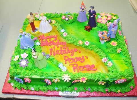Princess Whip Cream Birthday Cake - B0408