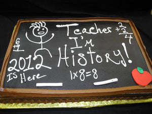 Graduation Blackboard Cream Cake - CS0208