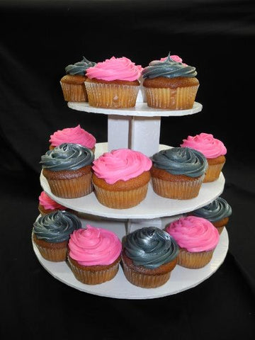 Pink and Silver Cup Cake Stand - CC057