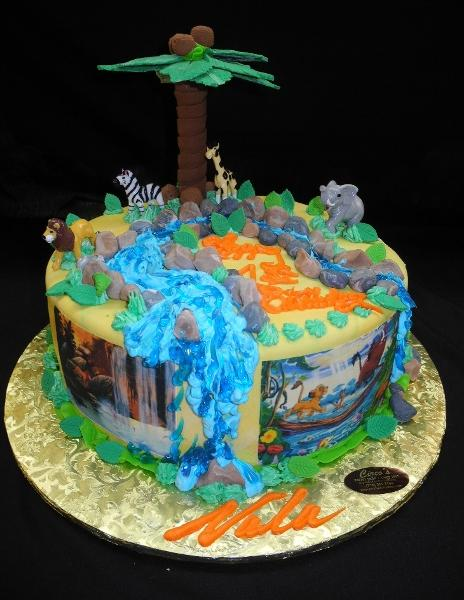 Jungle and The Lion King Birthday Cake - B0580